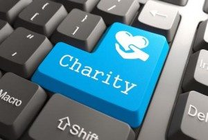 digital marketing for charities event - charity button