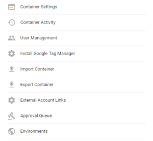exporting tag manager containers