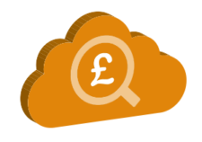 Paid Search Cloud Icon