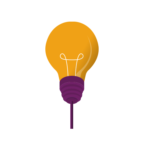 Lightbulb moment icon