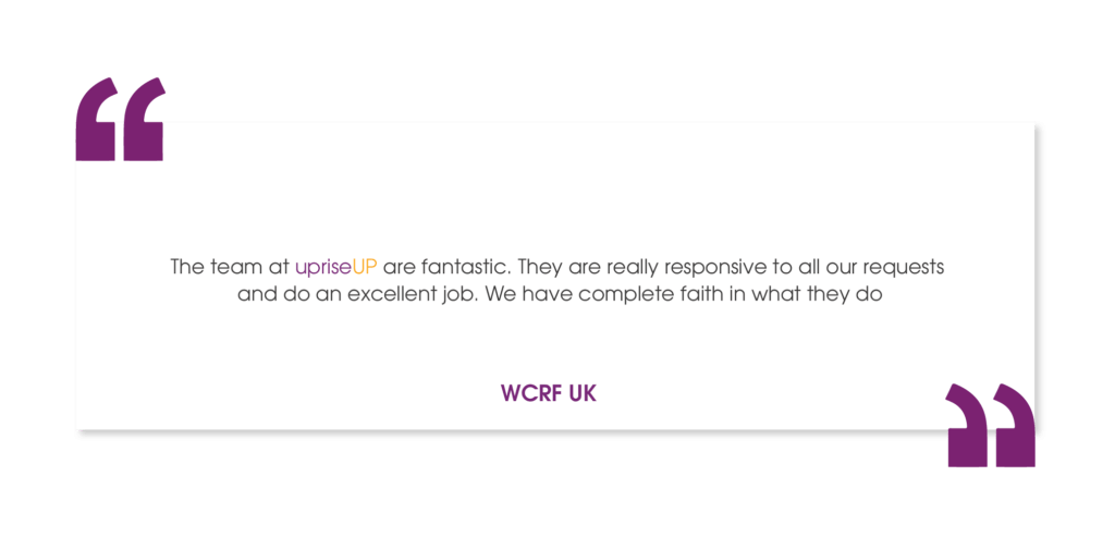 WCRF UK Case Study Testimonial