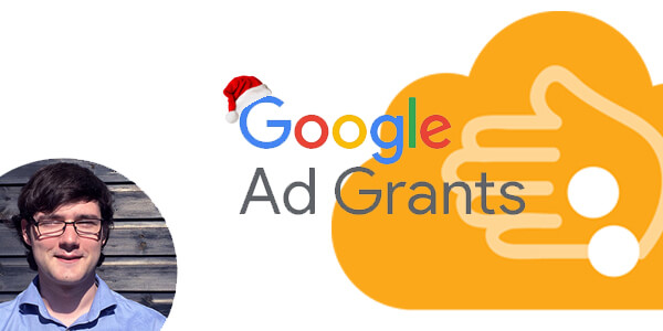 Google Ad Grants with a christmas hat