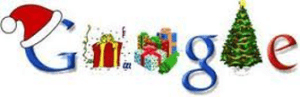Christmas edition of Google logo