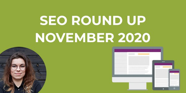 SEO Round Up November 2020 Featured image
