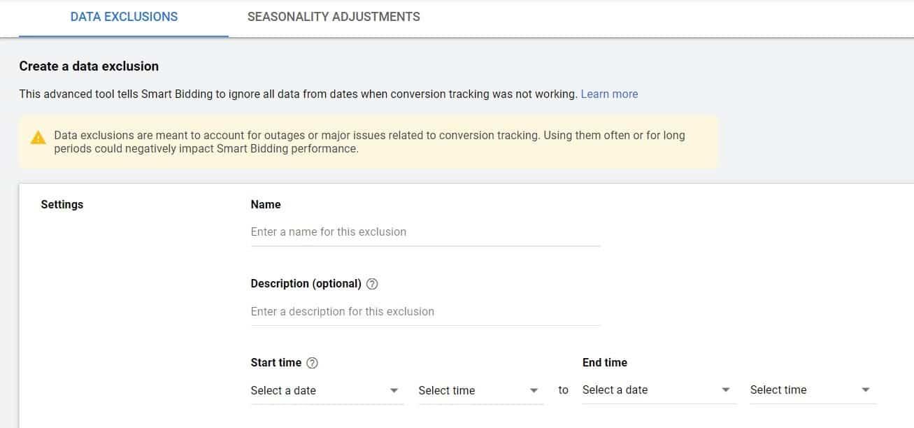 Google Ads Data Exclusion Controls Smart Bidding