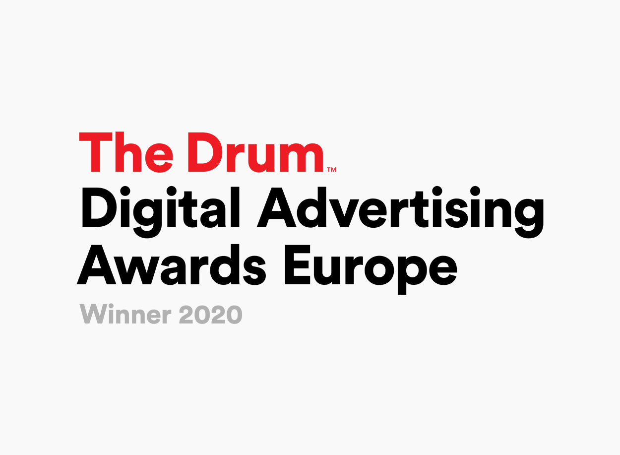 The Drum Digital Advertising Awards Europe Winner 2020
